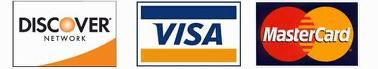 Visa, Master Card, and Discover Accepted